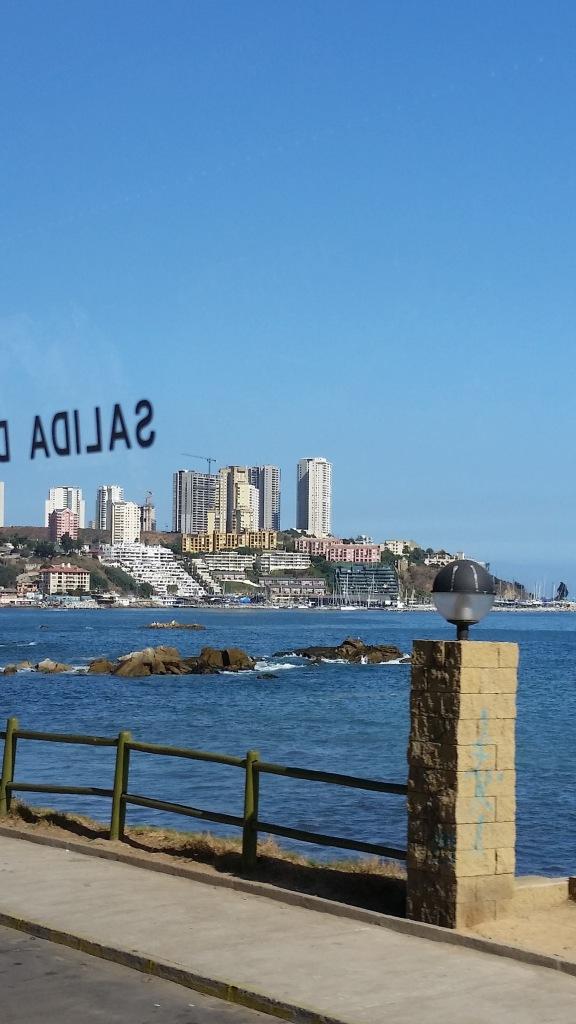 Coastline heading to Valparaiso