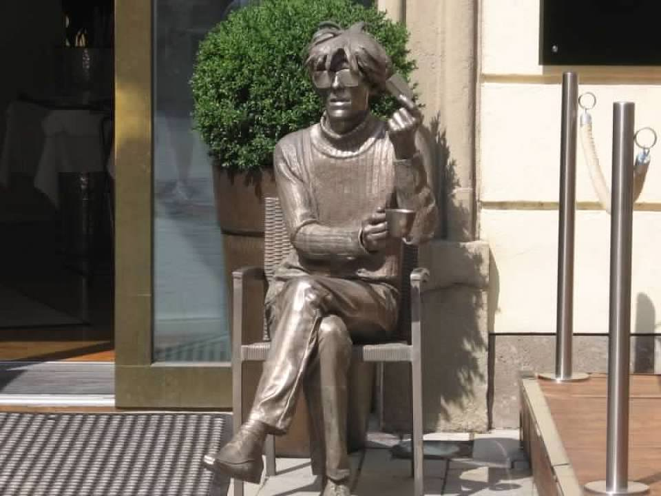 Andy Warhol statue