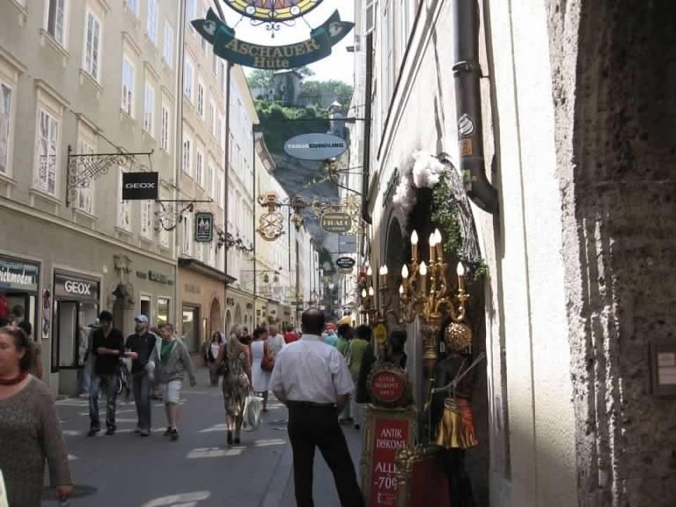beautiful ornate street in Salzburg